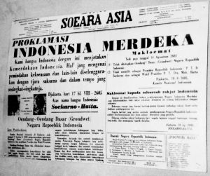Bewara Kamerdekaan Indonesia - Soeara Asia 1945